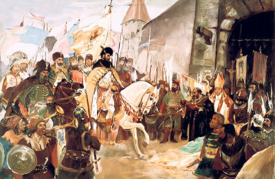 Mihai Viteazul intrând victorios în Alba Iulia